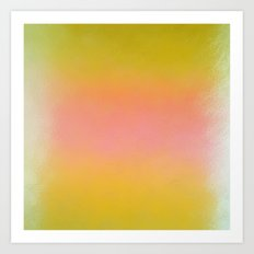 Abstract Square - Yellow Pink Art Print