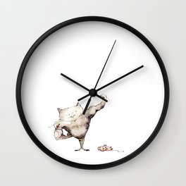 Tomcat/ Muskelkater Wall Clock