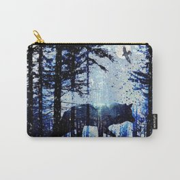 Winter Wolf Light and Shadow Carry-All Pouch