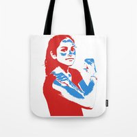 feminism Tote Bags featuring Feminism by DebbieHughes