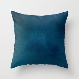 Blue-Gray Velvet Throw Pillow