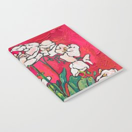 Orchid in Blue-and-white Bird Pot on Red after Matisse Notebook