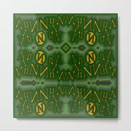 Nn - pattern 1 Metal Print