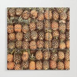 Pineapple Pattern Wood Wall Art