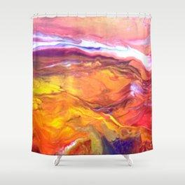 Red Hot Desert Shower Curtain