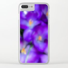 Crocus in the Early Morning Haze Clear iPhone Case