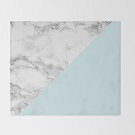 Marble + Pastel Blue Throw Blanket