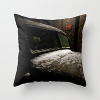 truck Throw Pillows featuring Truck Stop by Michael G. Mitchener