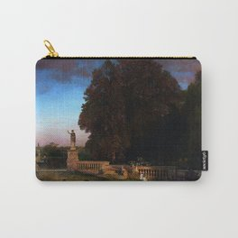 In the Park of the Roman Villa Borghese Rome Italy by Oswald Achenbach Carry-All Pouch