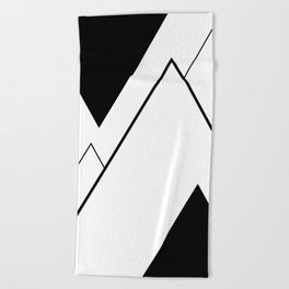 Minimal Mountains Beach Towel