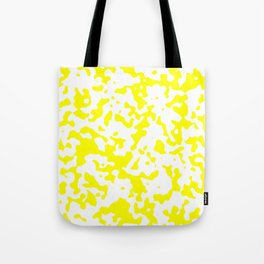 Spots - White and Yellow Tote Bag