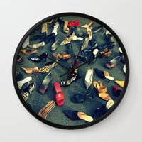 sale Wall Clocks featuring Sale by Irène Sneddon