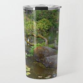 Lush japanese garden Travel Mug