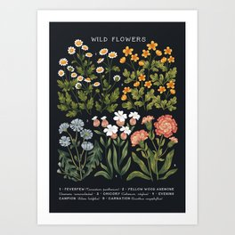 Wild Flowers ~ vol4. ~ dark Art Print
