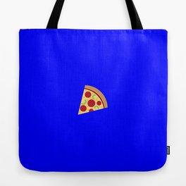 Pizza emoji on internet blue Tote Bag