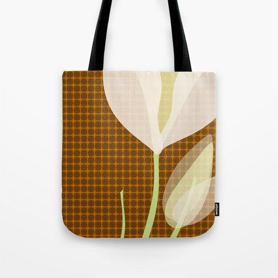 Modern Poppy Flower Tote Bag