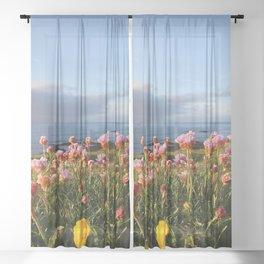 Ocean flowers Sheer Curtain