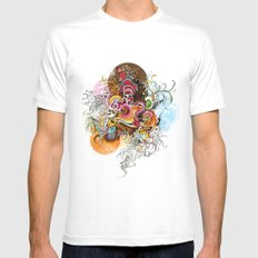 Peacock Mens Fitted Tee MEDIUM White