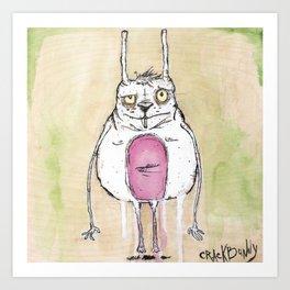 Fat Bunny Art Print