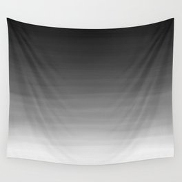 Black and White Haze Abstract Ombre Wall Tapestry