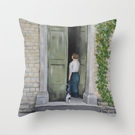 Going In and Out Throw Pillow