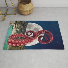 Octopus in the pool Rug