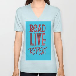 Read Live Repeat  Unisex V-Neck