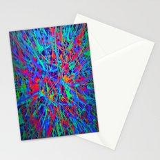 splatter in blacklight Stationery Cards