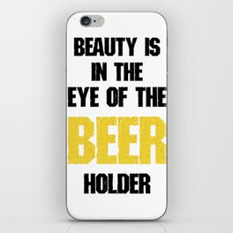 in the eye of beer  - I love beer iPhone Skin