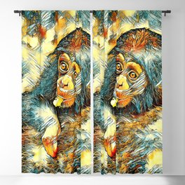 AnimalArt_Chimpanzee_20170604_by_JAMColorsSpecial Blackout Curtain