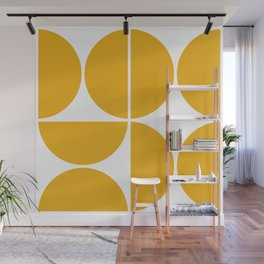 Mid Century Modern Yellow Square Wall Mural