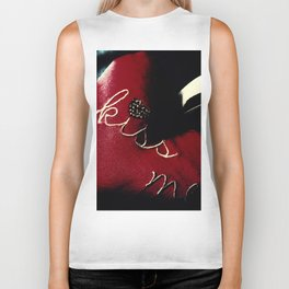 Kiss Me (Blood Red) Biker Tank