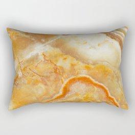 Brown Marble Stone Print Rectangular Pillow