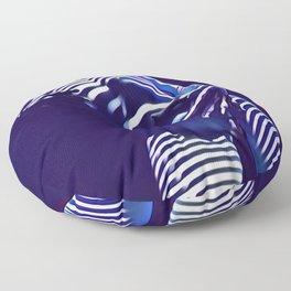 1570s-AK Sexy Blue Art Nude by Window Blind Blue Glow on Fit Body Floor Pillow