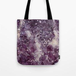 Deep Purple Quartz Crystal Tote Bag