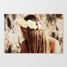 Hawaiian Girl Canvas Print