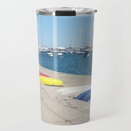 Chicago, Chicago shoreline, Skyline, Lake Michigan Travel Mug