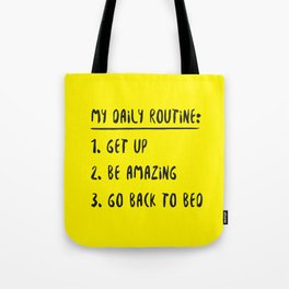 My Daily Routine Tote Bag
