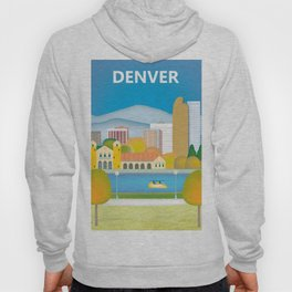 Denver, Colorado - Skyline Illustration by Loose Petals Hoody