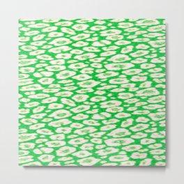 green cheetah animal print Metal Print