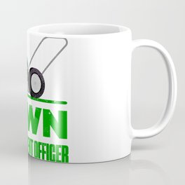 Lawn Enforcement Officer With Mover Funny Gardening Distressed Coffee Mug