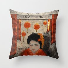 THE RED THREAD Throw Pillow