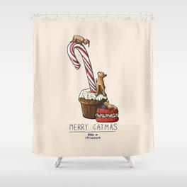 Merry Catmas Shower Curtain