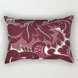 William Morris Textile Red Poppy, Calla Lily, Lilacs, & Dahlia Blossom tapestry  Rectangular Pillow