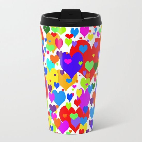 Beaucoup de coeurs de couleur Travel Mug