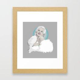 Platinum Blonde - Jean Harlow Framed Art Print