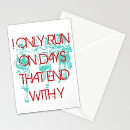 Running Days Stationery Cards