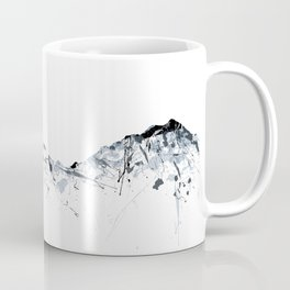 Eiger/Mönch/Jungfrau mountainsplash grey Coffee Mug