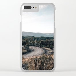 road to Cerro chapelco Clear iPhone Case