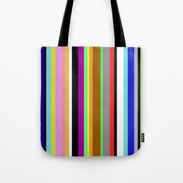 Say It With Stripes - Colourful, stripy pattern Tote Bag